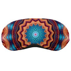 Blue Feather Mandala Sleeping Masks by designworld65
