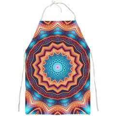 Blue Feather Mandala Full Print Aprons by designworld65