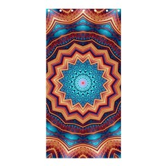 Blue Feather Mandala Shower Curtain 36  x 72  (Stall)