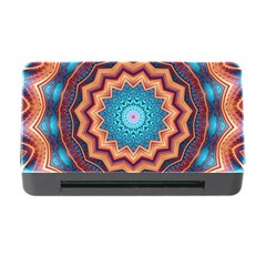 Blue Feather Mandala Memory Card Reader with CF