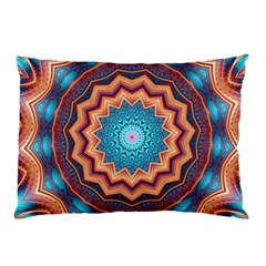 Blue Feather Mandala Pillow Case (Two Sides)