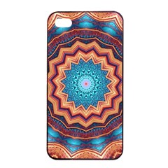 Blue Feather Mandala Apple iPhone 4/4s Seamless Case (Black)