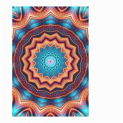 Blue Feather Mandala Small Garden Flag (Two Sides)
