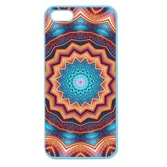 Blue Feather Mandala Apple Seamless iPhone 5 Case (Color)