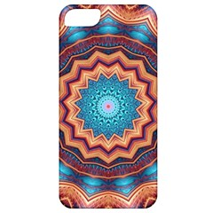 Blue Feather Mandala Apple Iphone 5 Classic Hardshell Case by designworld65