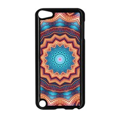 Blue Feather Mandala Apple iPod Touch 5 Case (Black)