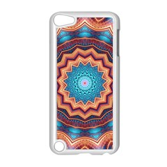 Blue Feather Mandala Apple iPod Touch 5 Case (White)