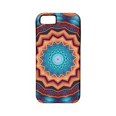 Blue Feather Mandala Apple Iphone 5 Classic Hardshell Case (pc+silicone) by designworld65