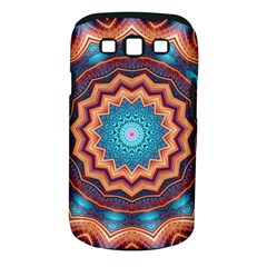 Blue Feather Mandala Samsung Galaxy S III Classic Hardshell Case (PC+Silicone)