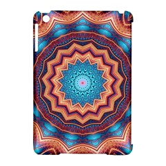 Blue Feather Mandala Apple iPad Mini Hardshell Case (Compatible with Smart Cover)