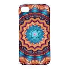 Blue Feather Mandala Apple iPhone 4/4S Hardshell Case with Stand