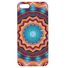Blue Feather Mandala Apple iPhone 5 Hardshell Case with Stand