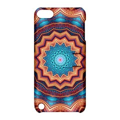 Blue Feather Mandala Apple iPod Touch 5 Hardshell Case with Stand
