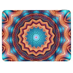 Blue Feather Mandala Samsung Galaxy Tab 7  P1000 Flip Case