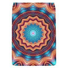Blue Feather Mandala Flap Covers (S)