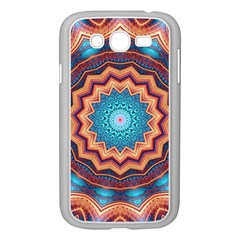 Blue Feather Mandala Samsung Galaxy Grand DUOS I9082 Case (White)