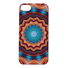 Blue Feather Mandala Apple Iphone 5s/ Se Hardshell Case by designworld65
