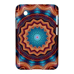 Blue Feather Mandala Samsung Galaxy Tab 2 (7 ) P3100 Hardshell Case  by designworld65
