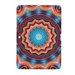 Blue Feather Mandala Samsung Galaxy Tab 2 (10 1 ) P5100 Hardshell Case  by designworld65