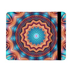 Blue Feather Mandala Samsung Galaxy Tab Pro 8 4  Flip Case by designworld65