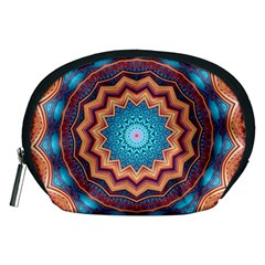 Blue Feather Mandala Accessory Pouches (Medium)