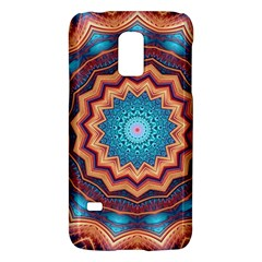 Blue Feather Mandala Galaxy S5 Mini by designworld65