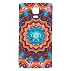 Blue Feather Mandala Galaxy Note 4 Back Case