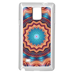 Blue Feather Mandala Samsung Galaxy Note 4 Case (White)