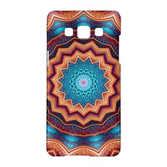 Blue Feather Mandala Samsung Galaxy A5 Hardshell Case