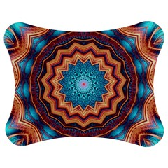 Blue Feather Mandala Jigsaw Puzzle Photo Stand (Bow)