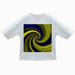 Blue Gold Dragon Spiral Infant/toddler T Shirts