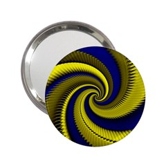 Blue Gold Dragon Spiral 2 25  Handbag Mirrors
