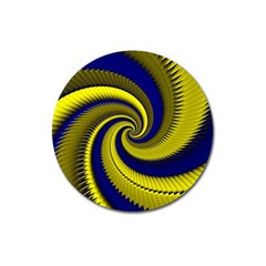 Blue Gold Dragon Spiral Magnet 3  (round)