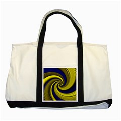 Blue Gold Dragon Spiral Two Tone Tote Bag by designworld65