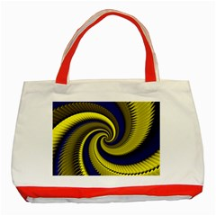Blue Gold Dragon Spiral Classic Tote Bag (red) by designworld65