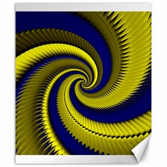 Blue Gold Dragon Spiral Canvas 20  X 24   by designworld65