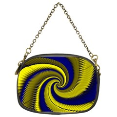 Blue Gold Dragon Spiral Chain Purses (one Side)  by designworld65