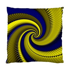 Blue Gold Dragon Spiral Standard Cushion Case (one Side)