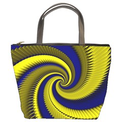 Blue Gold Dragon Spiral Bucket Bags