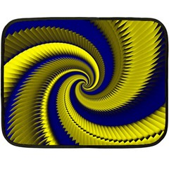 Blue Gold Dragon Spiral Double Sided Fleece Blanket (mini)