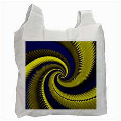 Blue Gold Dragon Spiral Recycle Bag (one Side) by designworld65