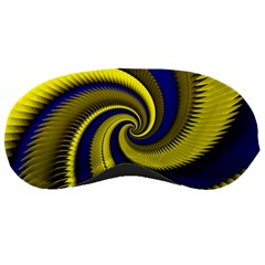 Blue Gold Dragon Spiral Sleeping Masks by designworld65