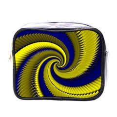 Blue Gold Dragon Spiral Mini Toiletries Bags