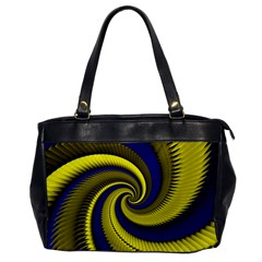 Blue Gold Dragon Spiral Office Handbags