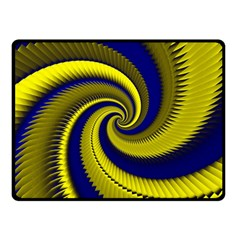 Blue Gold Dragon Spiral Fleece Blanket (small)