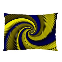 Blue Gold Dragon Spiral Pillow Case (two Sides)