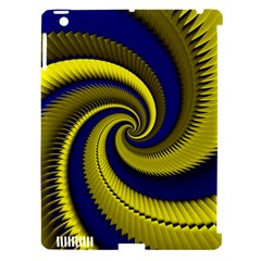 Blue Gold Dragon Spiral Apple Ipad 3/4 Hardshell Case (compatible With Smart Cover)