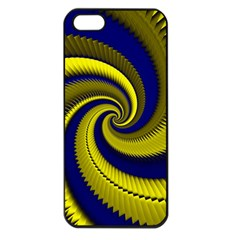 Blue Gold Dragon Spiral Apple Iphone 5 Seamless Case (black) by designworld65