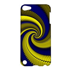 Blue Gold Dragon Spiral Apple Ipod Touch 5 Hardshell Case by designworld65