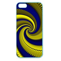 Blue Gold Dragon Spiral Apple Seamless Iphone 5 Case (color) by designworld65